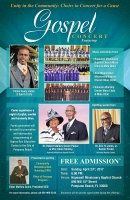 "Free Gospel Concert set for April 23rd with renowned Gospel Artist, Pastor Avery Jones & Spirit of Life, and a host of choirs for ""Unity in the Community"""