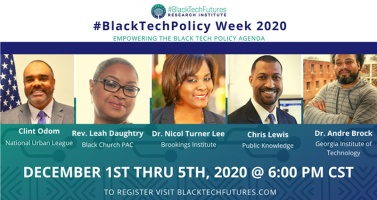 #BlackTechFutures Research Institute Announces Inaugural #BlackTechPolicy Week