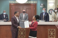 (BPRW) McDonough,GA man raised in a single parent home, now successful businessman, recognized with his own day!